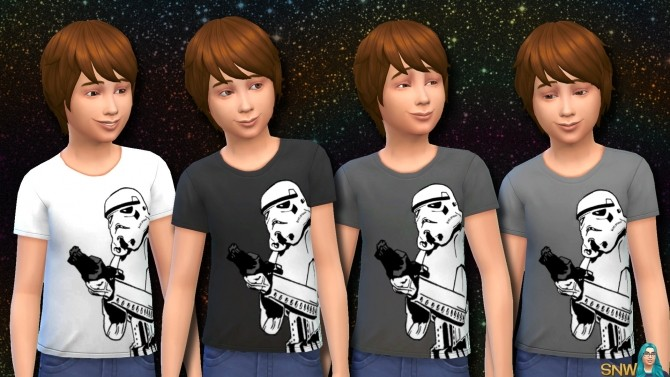 Sims 4 Star Wars Stormtrooper Shirts for Kids at Sims Network – SNW