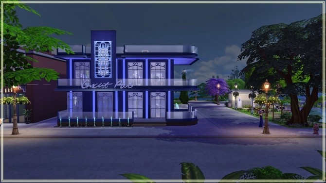Sims 4 Blue Velvet Night club redesign by fatalist at ihelensims