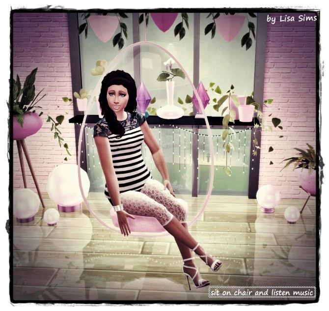 Sims 4 CHILL OUT POSE at Lisa Sims