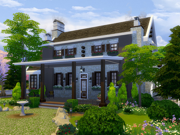 Sims 4 Stone Cottage by Lhonna at TSR