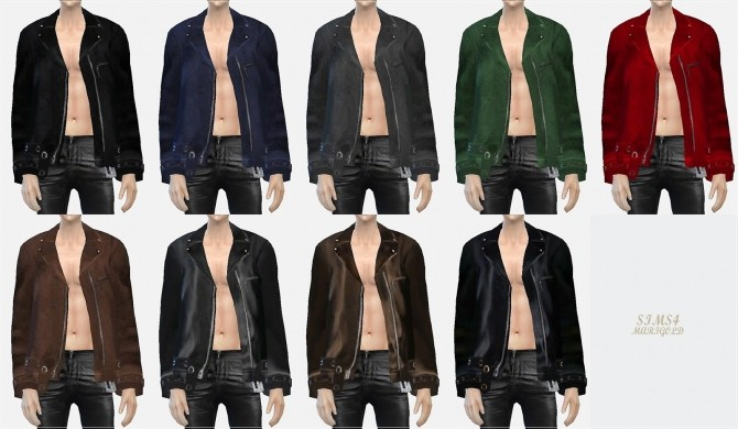 Sims 4 ACC leather jacket at Marigold