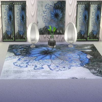 Sims 4 Blue flower set at Trudie55