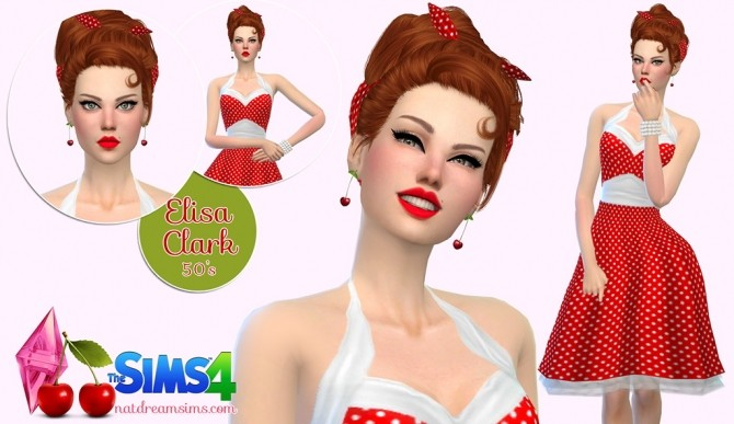 Sims 4 Elisa Clark at Nat Dream Sims