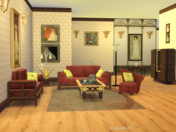 Art Deco Livingroom By Shinokcr At Tsr 187 Sims 4 Updates