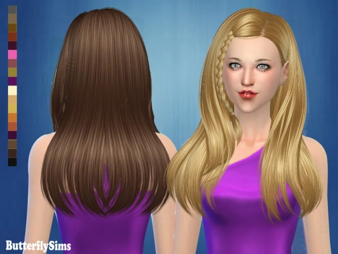 B Fly Hair 182 Af No Hat Pay At Butterfly Sims 187 Sims 4