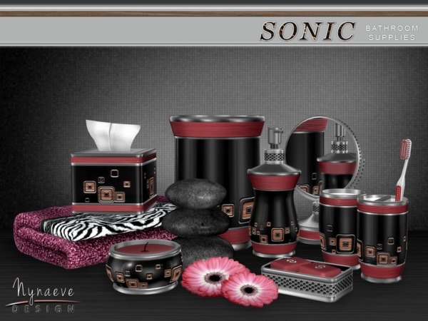 Sims 4 Sonic Bathroom Supplies by NynaeveDesign at TSR