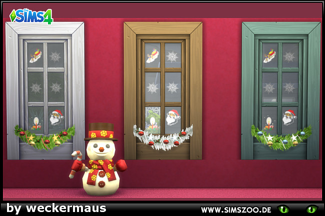 Sims 4 Xmas Window by weckermaus at Blacky's Sims Zoo
