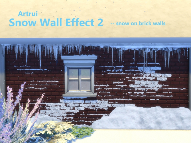 Snow Wall Effect 2 By Artrui At Mod The Sims 187 Sims 4 Updates