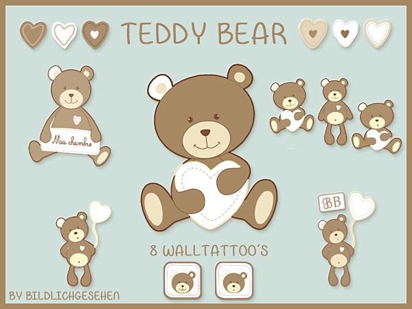 Sims 4 Walltattoo teddy bear at Akisima
