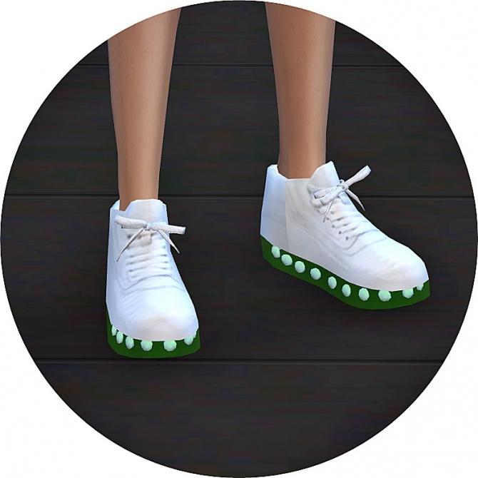 v2 light emission sneakers transparent sole version at