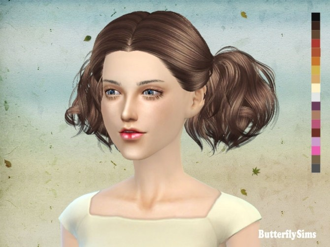 Sims 4 B fly hair AF 088 NO hat (FREE) at Butterfly Sims