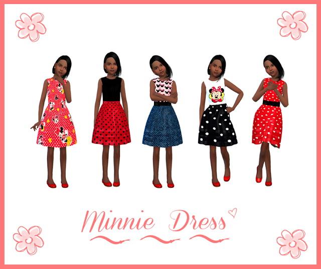 Sims 4 Minnie Dress at Nathalia Sims