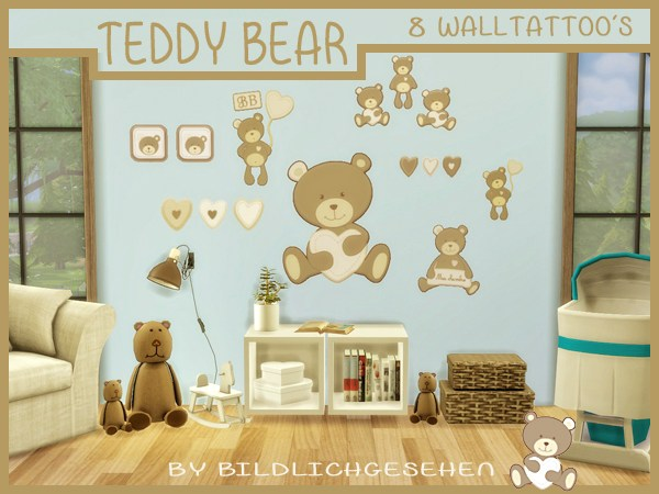 Walltattoo teddy bear at Akisima image 887 Sims 4 Updates