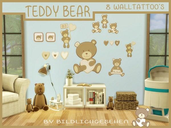 Walltattoo teddy bear at Akisima image 887 Sims 4 Updates