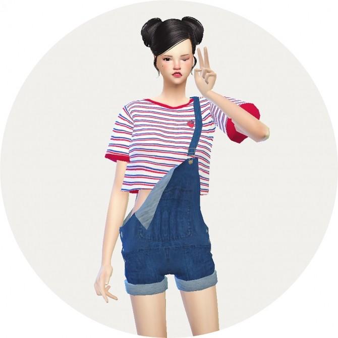 Dungarees hot pants version at Marigold image 891 670x670 Sims 4 Updates
