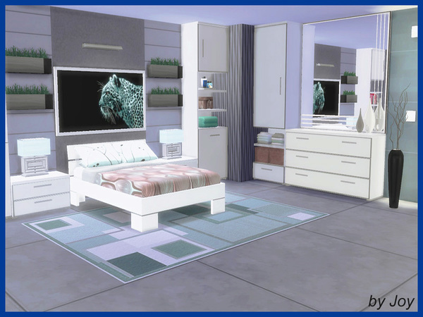 Sims 4 LIMA bedroom by Joy at TSR