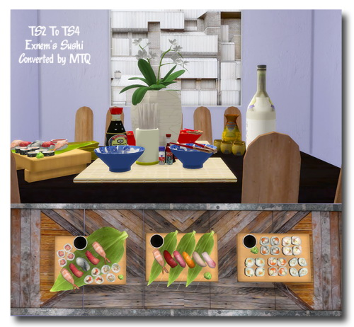 Sims 4 Exnem's Food Sushi at Msteaqueen