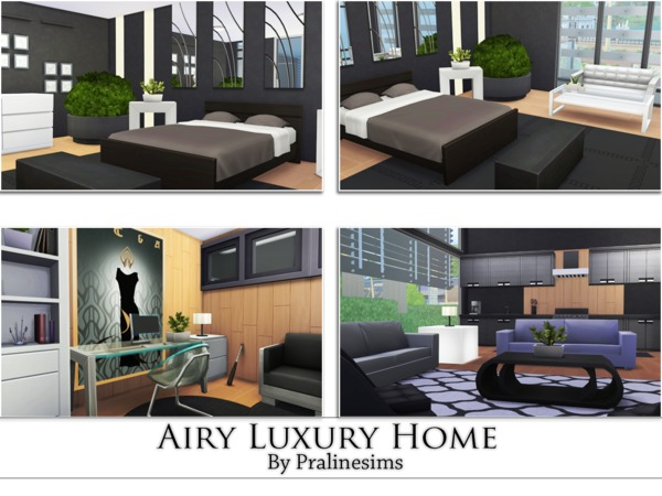 Sims 4 Airy Luxury Home by Pralinesims at TSR