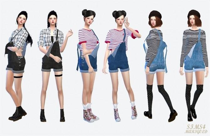 Dungarees hot pants version at Marigold image 901 670x434 Sims 4 Updates