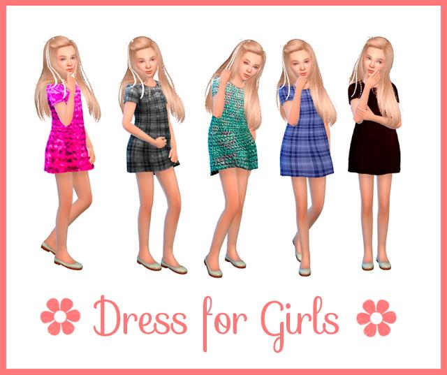 Sims 4 Dress for Girls 2 at Nathalia Sims
