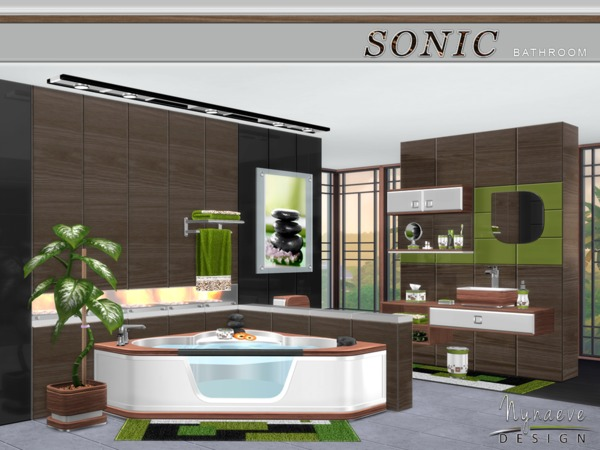 Sonic bathroom by nynaevedesign at tsr sims 4 updates for The sims 3 bathroom ideas