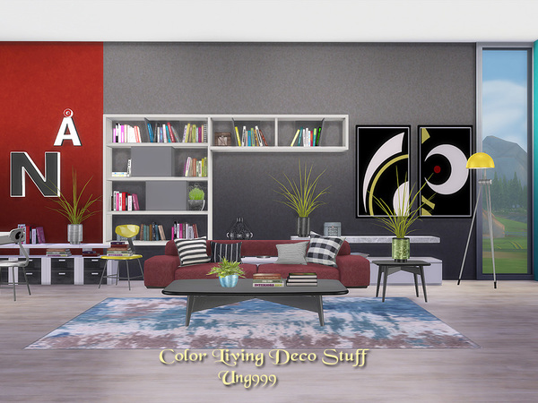 Color Living Decor Stuff by ung999 at TSR image 9106 Sims 4 Updates