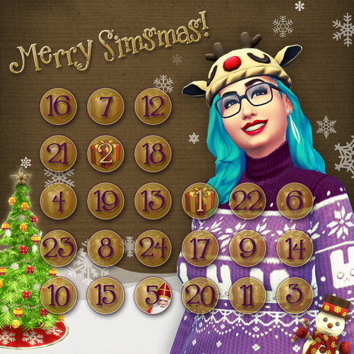 Sims 4 Advent Calendar 2015 at Sims Network – SNW
