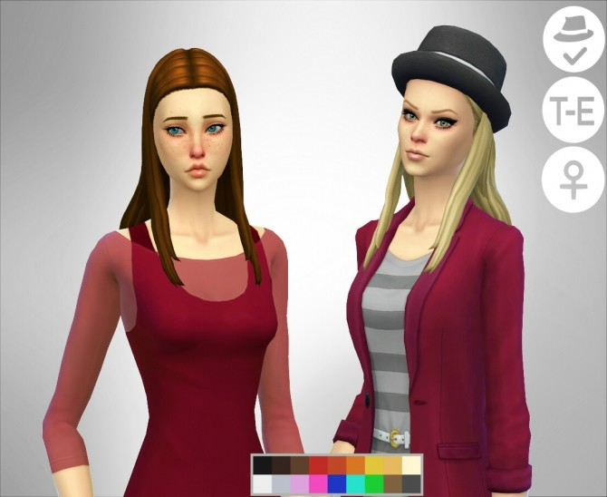 Sims 4 Get Together Edited Hair at Simduction