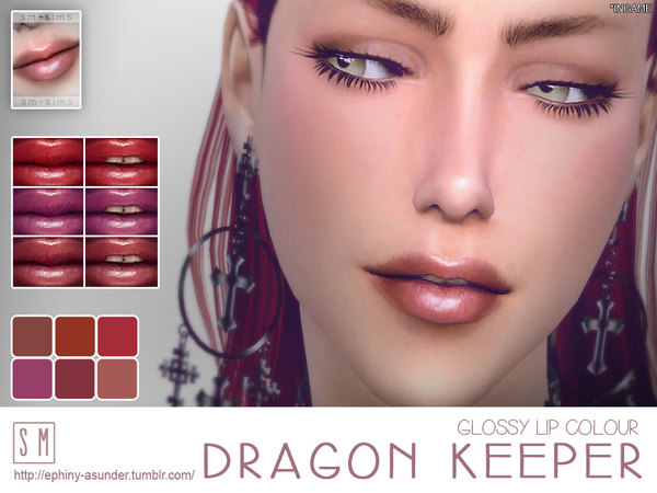 Dragon Keeper Glossy Lip Colour by Screaming Mustard at TSR image 9129 Sims 4 Updates