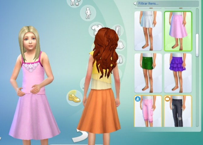 Round Skirt Solid Colors at My Stuff image 945 670x479 Sims 4 Updates