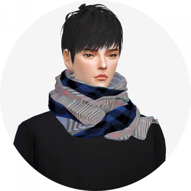 Male Two Tone Scarf At Marigold 187 Sims 4 Updates