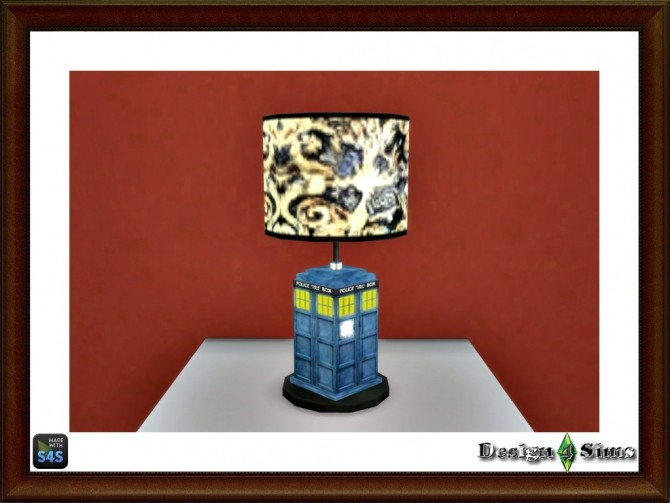 Exploding Tardis table lamp by Design 4 Sims at Sims 4 Studio image 9621 670x503 Sims 4 Updates