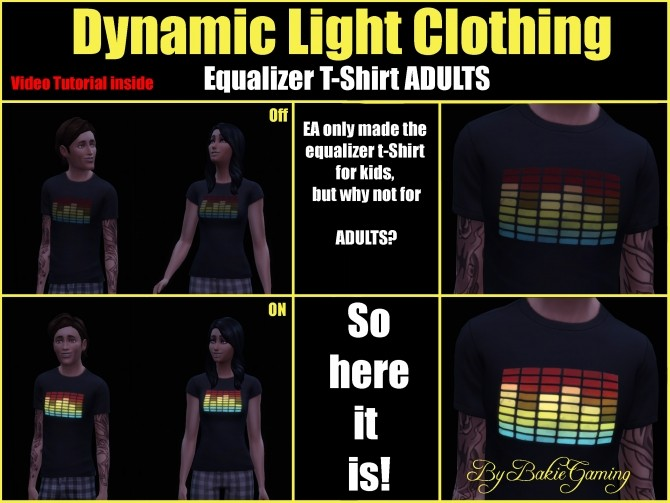 Sims 4 Dynamic Light Equalizer T Shirt by Bakie at Mod The Sims