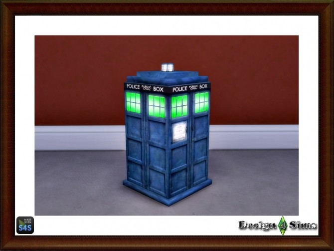 Sims 4 Dr. Who Tardis Trash Can by Design 4 Sims at Sims 4 Studio