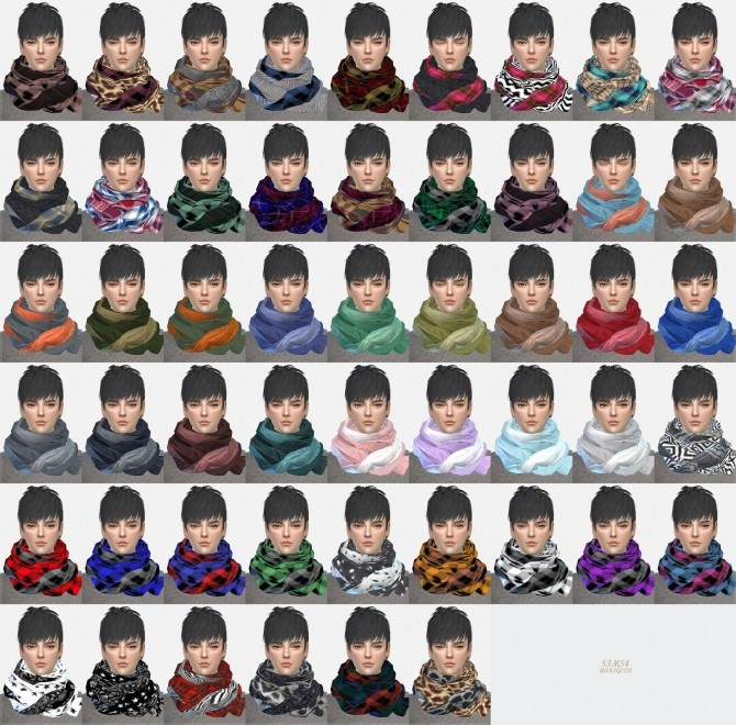Sims 4 Male two tone scarf at Marigold