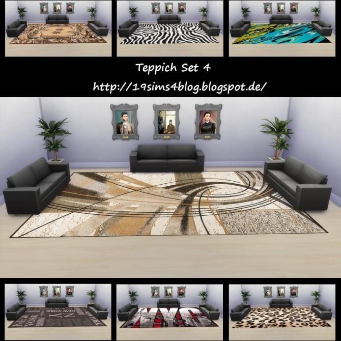 Sims 4 Rugs set 4 at 19 Sims 4 Blog