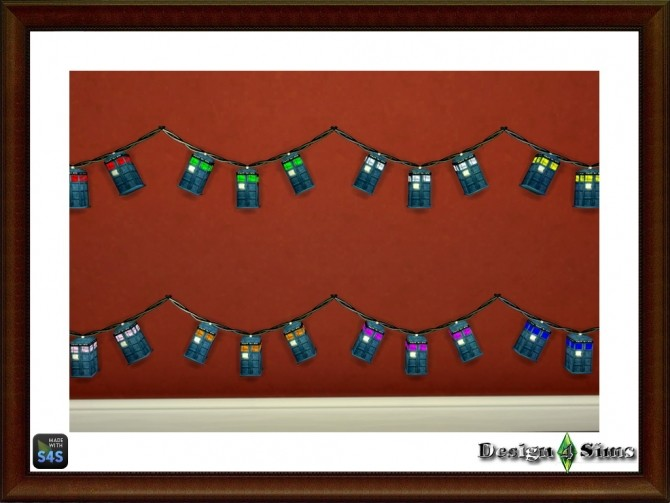 Sims 4 Dr. Who Tardis String Lights by Design 4 Sims at Sims 4 Studio