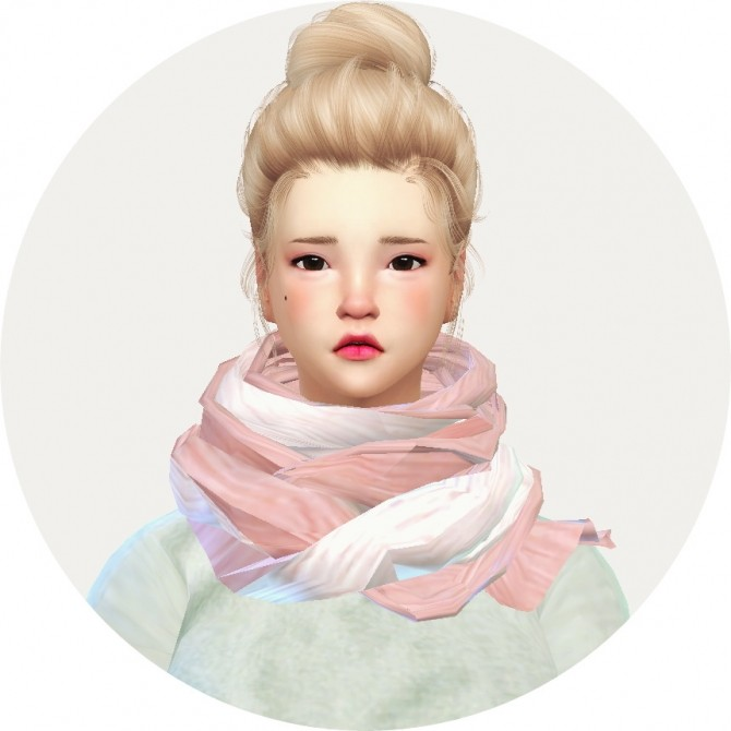 Female two tone scarf at Marigold image 985 670x670 Sims 4 Updates