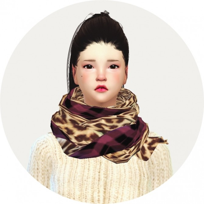 Female two tone scarf at Marigold image 995 670x670 Sims 4 Updates