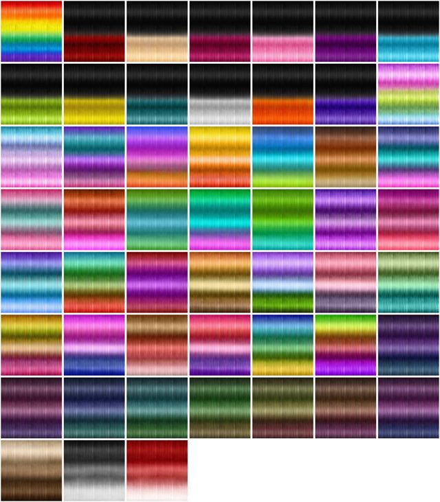 Textures for retextured hair Sims 4 ( 251 colors) at Jenni Sims image 1002 Sims 4 Updates