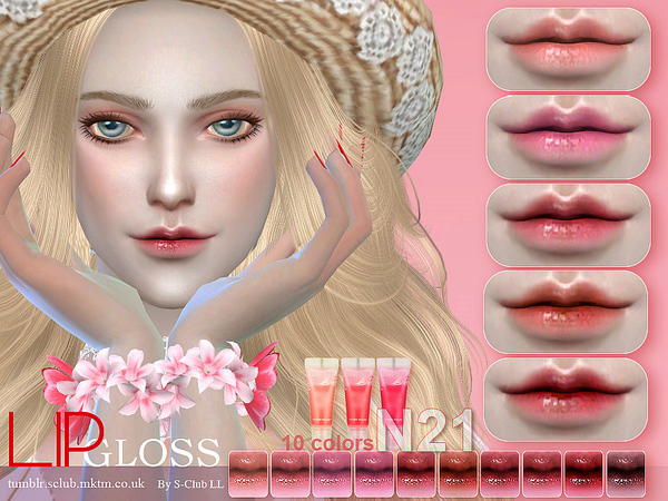 Sims 4 Lipstick 21 by S Club LL at TSR