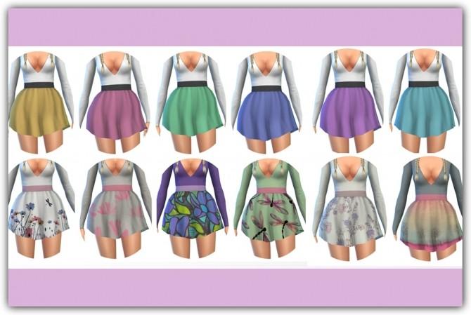 Sims 4 Leah Dress Recolors at Maimouth Sims4