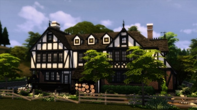 Tudor Mansion At Dw62801 Sims 4 Updates