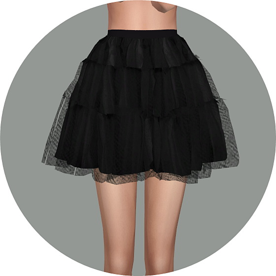 Sims 4 Ballet Tier Mini skirt at Marigold