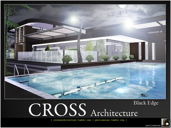 Sims 4 Black Edge house by Pralinesims at TSR