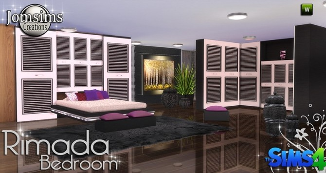 Rimada bedroom at jomsims creations image 1072 670x355 sims 4 updates