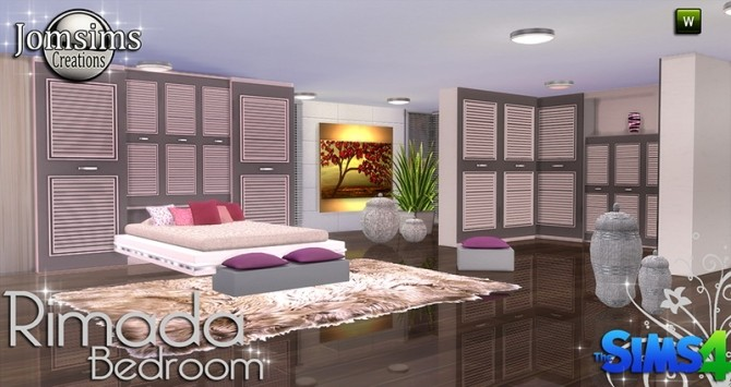 Rimada bedroom at jomsims creations image 1082 670x355 sims 4 updates