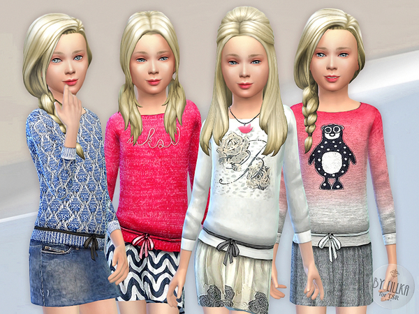 Sims 4 Designer Outfits Collection P03 by lillka at TSR