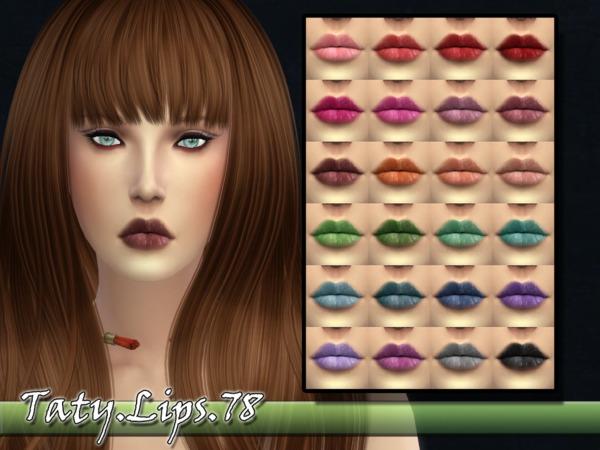 Sims 4 Taty Lips 78 by tatygagg at TSR