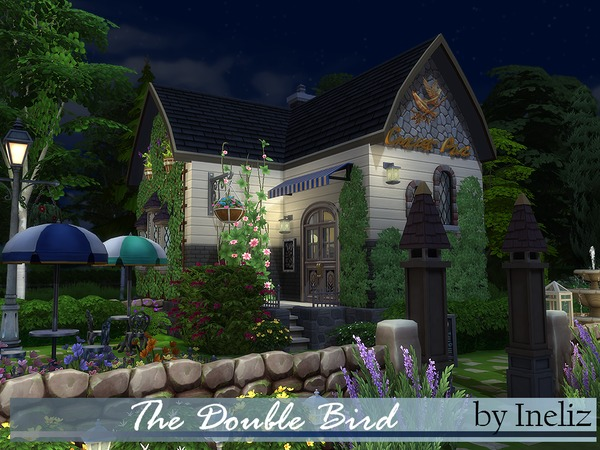 Sims 4 The Double Bird cafe by Ineliz at TSR